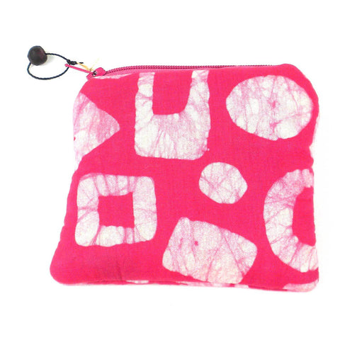 Batiked Coin Purse - Pink - World Peaces (P)