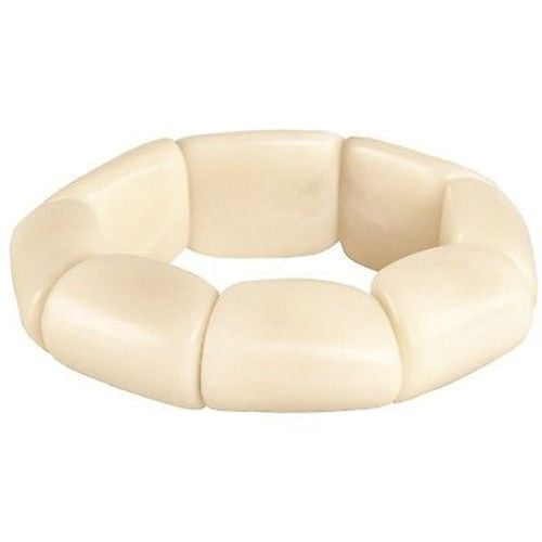Riverbed Tagua Nut Bracelet in Cream Handmade and Fair Trade