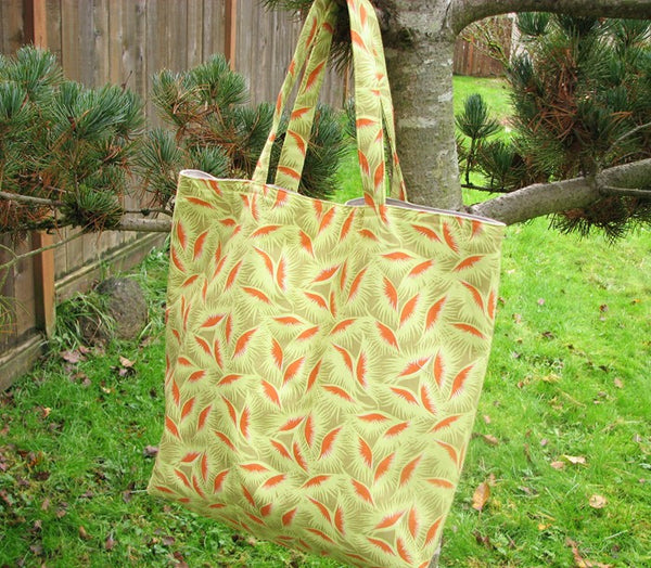 On Sale Library Book Bag Tote Orange Eyelashes Market