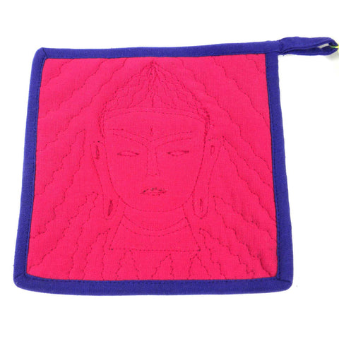 Buddha Hot Pad Pink Purple - Jeevankala (T)