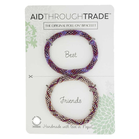 Roll-On Friendship Bracelets - Cranberry Spice - Aid Through Trade