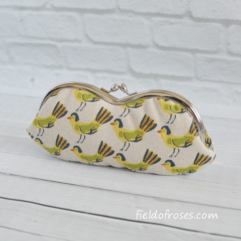 Sunglasses Eyeglasses Case Kawaii Birds Tweet Tweet Natural Handmade