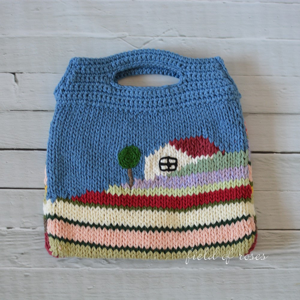 Knitted Bag House on Hill