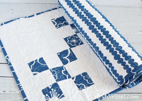 Copy of Quilted Table Runner Modern Stripes