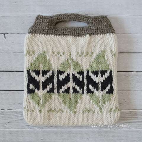 Handmade Knitted Bag Leaves