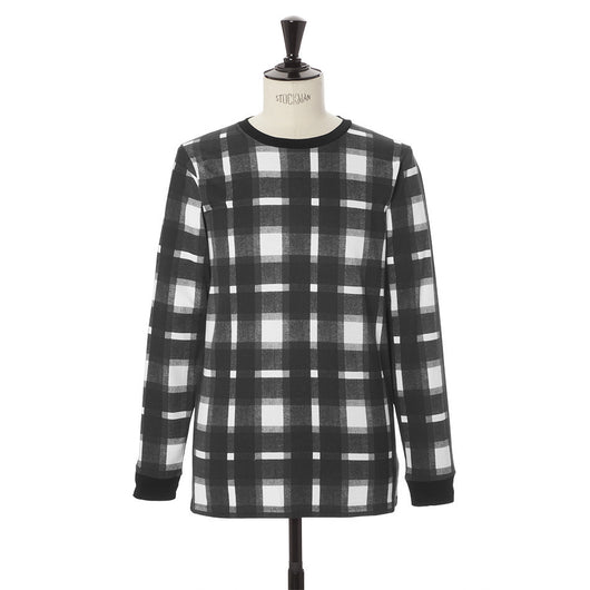 Plaid Printed Long Sleeve Tee