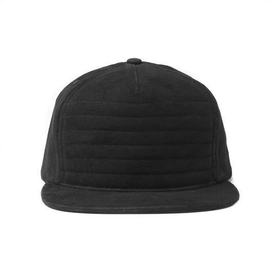 Pleated Suede Snapback