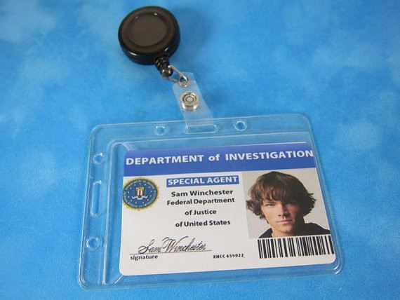 Supernatural Inspired FBI ID badge Retractable, Cosplay, Supernatural - Badge - Supernatural-Sickness - 1