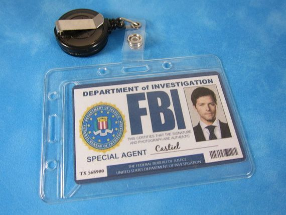 Supernatural Inspired FBI ID Badge Retractable, Cosplay, Supernatural – Supernatural-Sickness