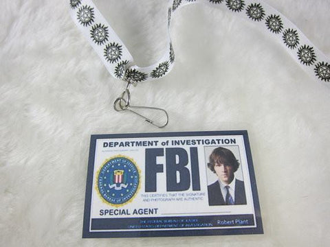 Supernatural Inspired FBI Badge and Lanyard - Sam - Badge - Supernatural-Sickness - 1