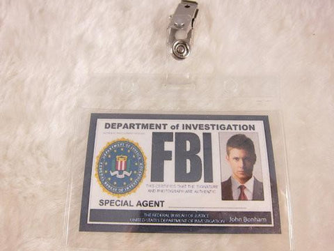 Supernatural Inspired FBI Badge - Dean - Badge - Supernatural-Sickness