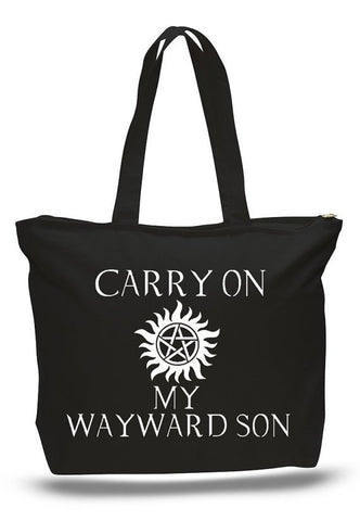 Carry On My Wayward Son Book Tote Bag - Bags - Supernatural-Sickness - 1