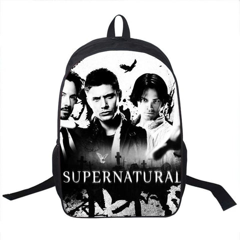 Supernatural Backpack Bag - Bags - Supernatural-Sickness
