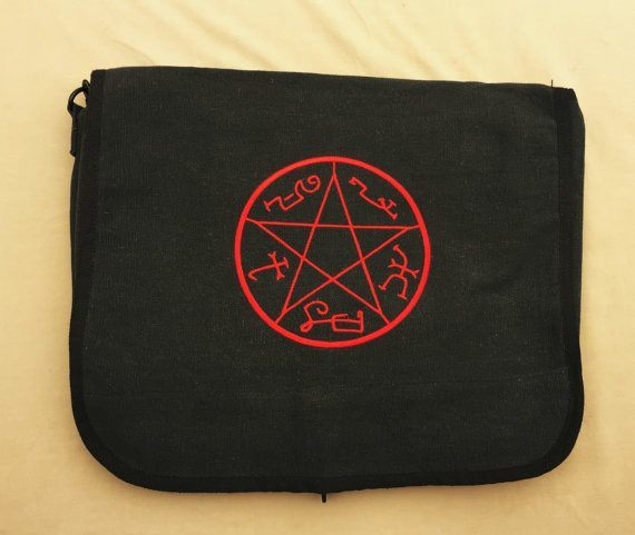 Supernatural Devil's Trap Embroidered Messenger Bag - Bags - Supernatural-Sickness - 1