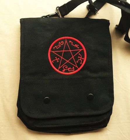 Supernatural Devil's Trap Embroidered Tablet Bag - Bags - Supernatural-Sickness - 1