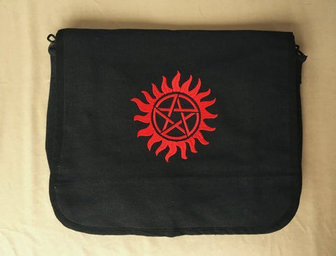 Supernatural Embroidered Messenger Bag - Bags - Supernatural-Sickness - 1