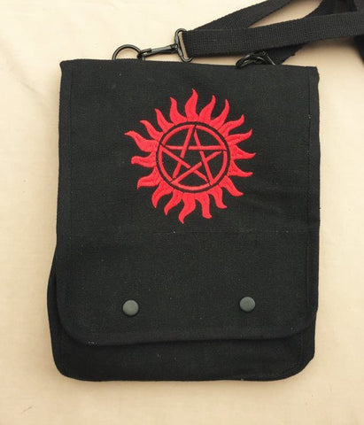 Supernatural Embroidered Tablet Bag - Bags - Supernatural-Sickness - 1