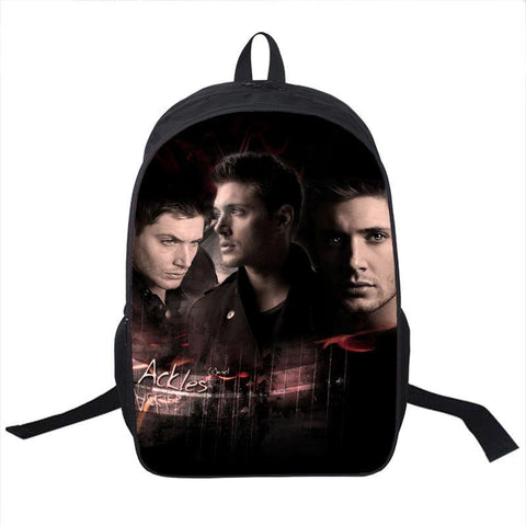 Supernatural Jensen Ackles Backpack Bag - Bags - Supernatural-Sickness