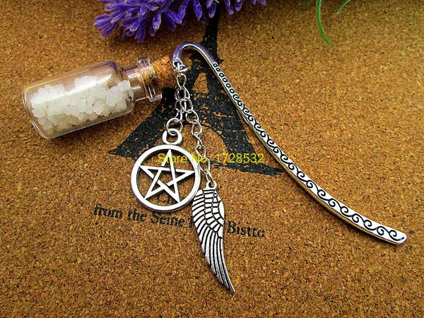 Supernatural Angel Wing Pentagram And Salt Bottle Bookmark - Bookmark - Supernatural-Sickness - 1