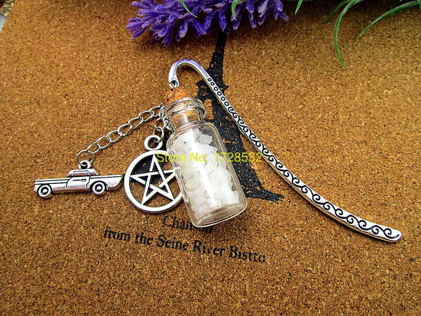 Supernatural Angel Wing Pentagram And Salt Bottle Bookmark - Bookmark - Supernatural-Sickness - 2