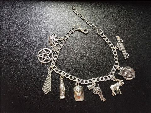 Dean Sam Inspired Themed Charm Bracelet - Bracelet - Supernatural-Sickness - 1