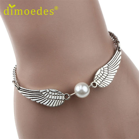 Supernatural Angel Wing Pearl Bracelet (Free Shipping) - Bracelet - Supernatural-Sickness - 1