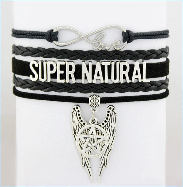 Supernatural Angel Wings Pentagram Bracelet - Bracelet - Supernatural-Sickness - 1