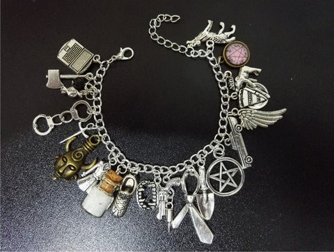Supernatural Charms Stainless Steel Bracelet - Bracelet - Supernatural-Sickness