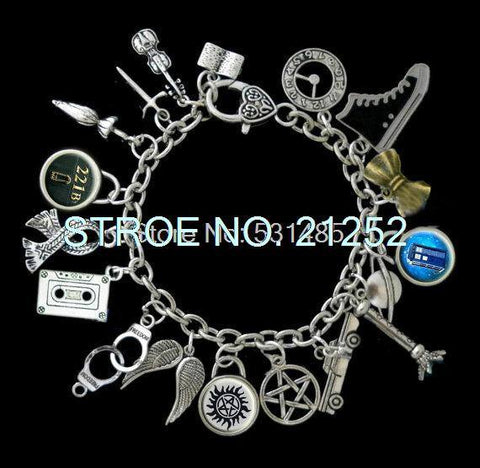 SuperWhoLock Charms Bracelet - Bracelet - Supernatural-Sickness
