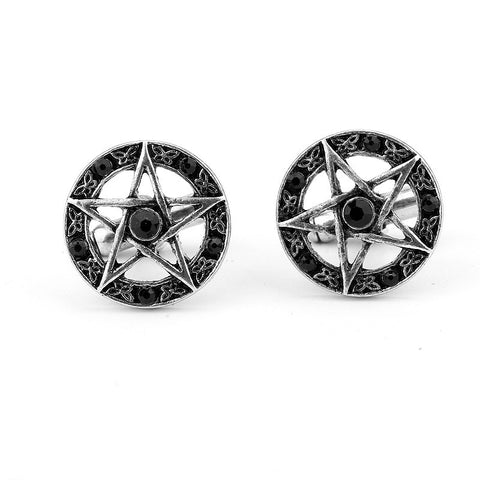 Crystal Star Cufflinks (Free Shipping) - Cufflinks - Supernatural-Sickness - 1