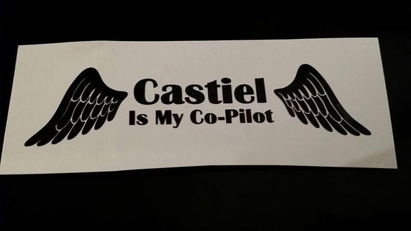 Castiel is my Co-Pilot Decal - Decal - Supernatural-Sickness - 1