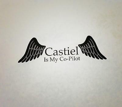 Castiel is my Co-Pilot Decal - Decal - Supernatural-Sickness - 2