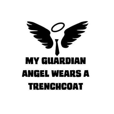 My Guardian Angel Wears a Tench Coat Decal with Angel - Decal - Supernatural-Sickness