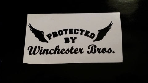 Protected by Winchester Bros decal - Decal - Supernatural-Sickness - 1