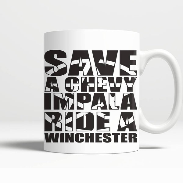 Save A Chevy Impala - Mug - Drinkwear - Supernatural-Sickness - 3