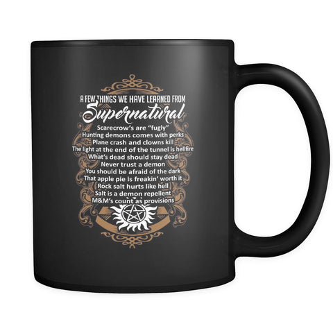 Things Learned From Supernatural - Mug - Drinkwear - Supernatural-Sickness - 1