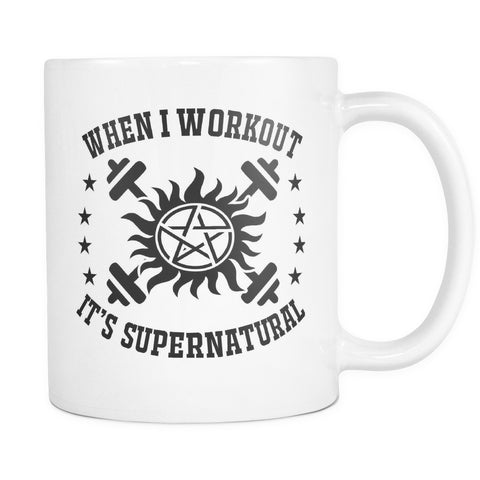 When I Workout - Mug - Drinkwear - Supernatural-Sickness - 1