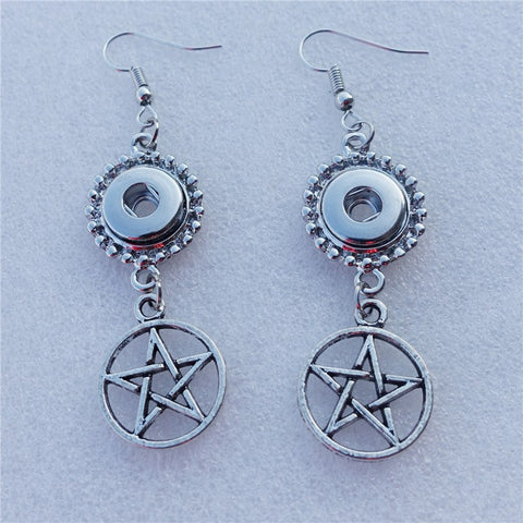 Silver Pentagram Earrings (Free Shipping) - Earrings - Supernatural-Sickness - 1