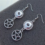 Silver Pentagram Earrings (Free Shipping) - Earrings - Supernatural-Sickness - 2