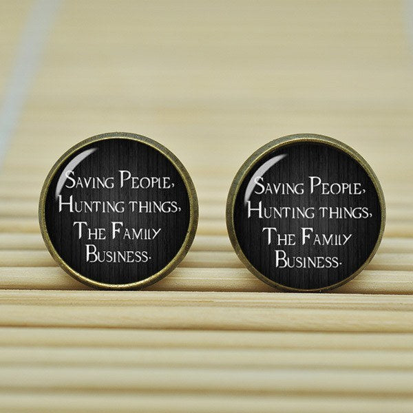 Supernatural Saving People Hunting Things Earrings - Earrings - Supernatural-Sickness - 1