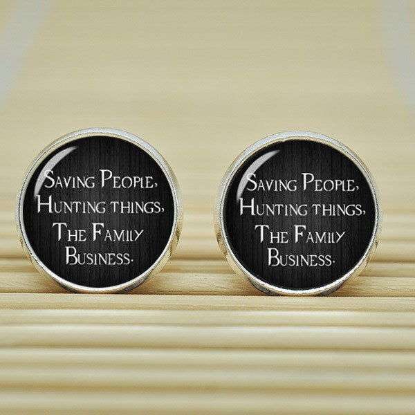 Supernatural Saving People Hunting Things Earrings - Earrings - Supernatural-Sickness - 2