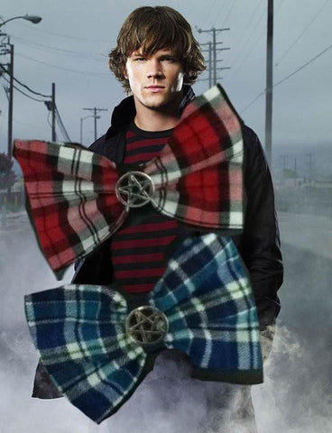 Supernatural Sam Winchester Inspired Hair Bow- Plaid - Hair Bow - Supernatural-Sickness - 1