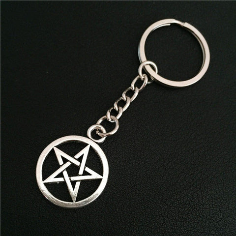 Silver Pentagram Keychain (Free Shipping) - Keychain - Supernatural-Sickness - 1