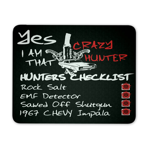 Crazy Hunter - Mousepad - Mousepads - Supernatural-Sickness