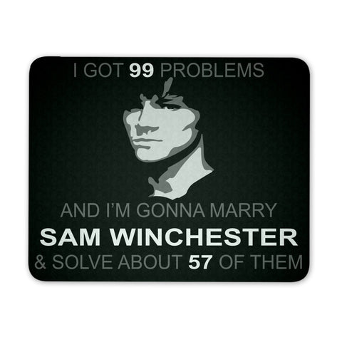 Im Gonna Marry Sam - Mousepad - Mousepads - Supernatural-Sickness