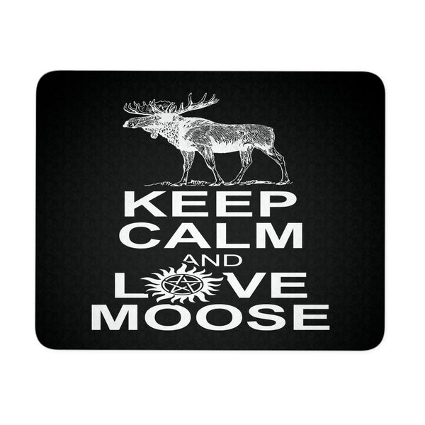 Keep Calm And Love Moose Mousepad - Mousepads - Supernatural-Sickness - 1