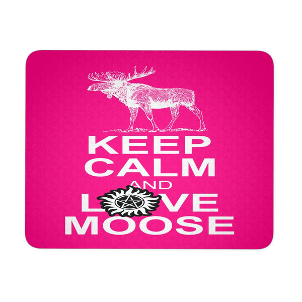Keep Calm And Love Moose Mousepad - Mousepads - Supernatural-Sickness - 3
