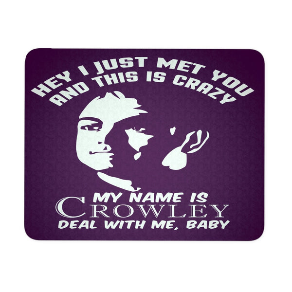 My Name Is Crowley - Mousepad - Mousepads - Supernatural-Sickness - 3