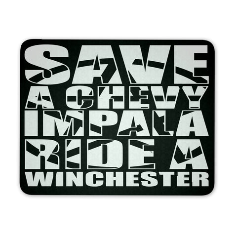 Save A Chevy Impala - Mousepad - Mousepads - Supernatural-Sickness