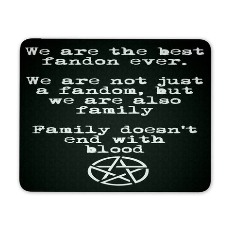 We are the best fandom ever - Mousepad - Mousepads - Supernatural-Sickness